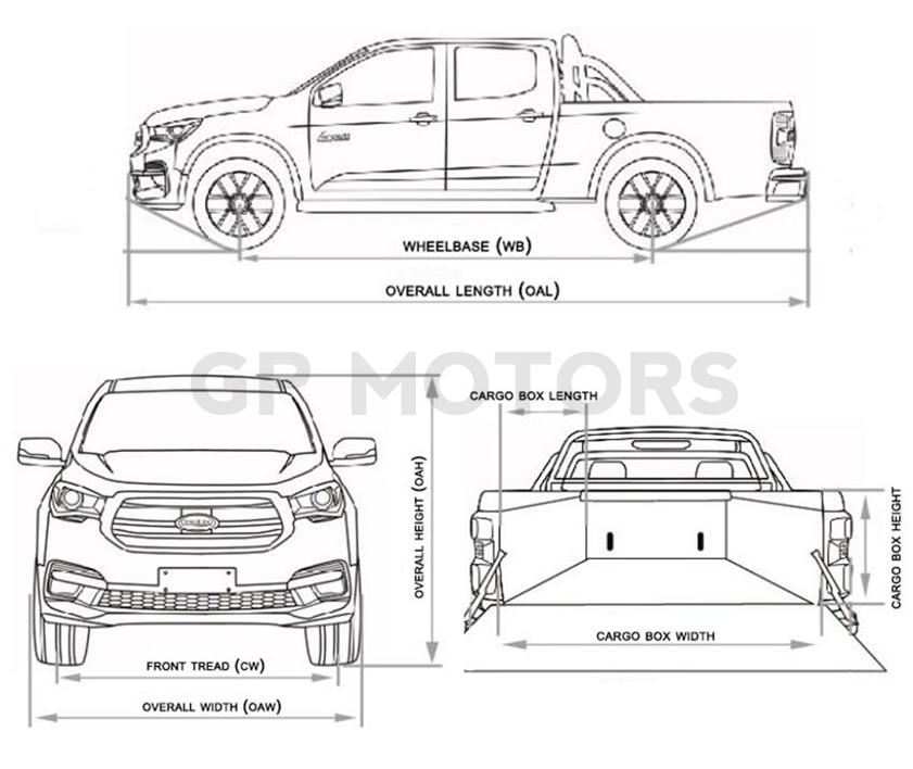 Isuzu double cab diesel pickup truck